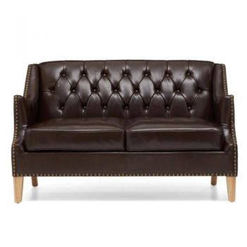 Carmen Genuine Leather Loveseat