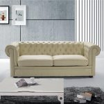 Clackline Leather 2 Seater Chesterfield Sofa