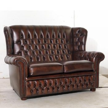 Potter Genuine Leather High Back Sofa