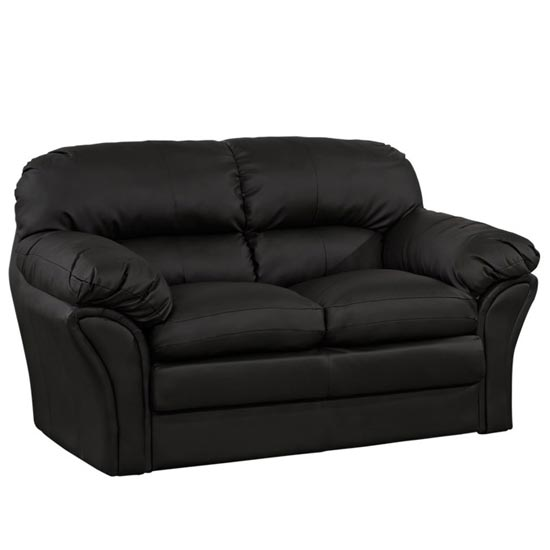 Two-Seater-Black-Sofa