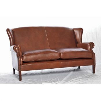 Victorian Genuine Leather Sofa
